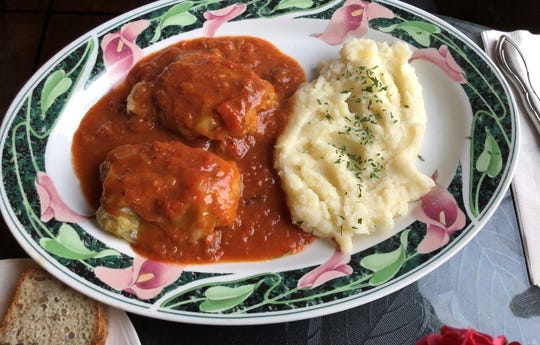 The stuffed cabbage at European Cafe & Bakery, Naples.