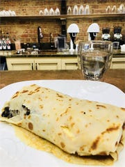 Fosko Coffee Bar prepares fresh crepes on the spot.