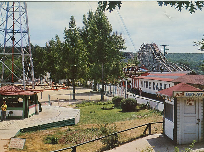 The upgraded Aero-Jet at Bertrand Island Amusement Park swings in this undated photo from Mount Arlington, N.J.