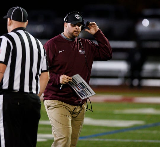 Don Bosco Head Coach Mike Teel, pictured on Oct. 27, 2017.
