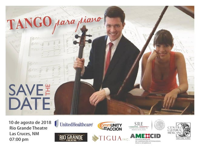Mexican pianist Astrid Morales and American cellist Jason Mooney will perform in a free concert Friday at the Rio Grande Theatre.