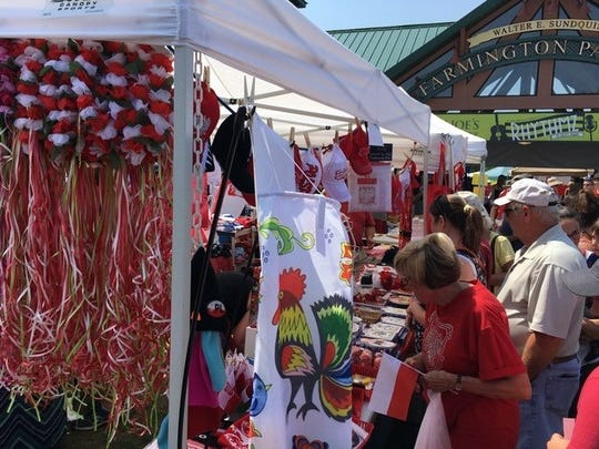 Over 4,000 people enjoyed the third annual Polish Cultural Heritage Day in downtown Farmington at the farmer market Saturday.