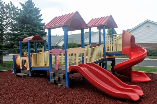 While the original playground still stands from the previous center, improvements such as new rubber mulch have been made.
