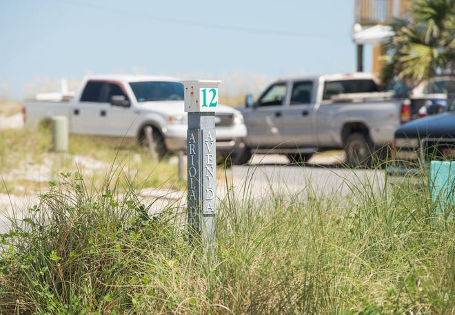 Pensacola Beach leaders are giving residents until Sept. 15 to clear boulders, railroad ties and other items from roadside rights of way in front of their homes.