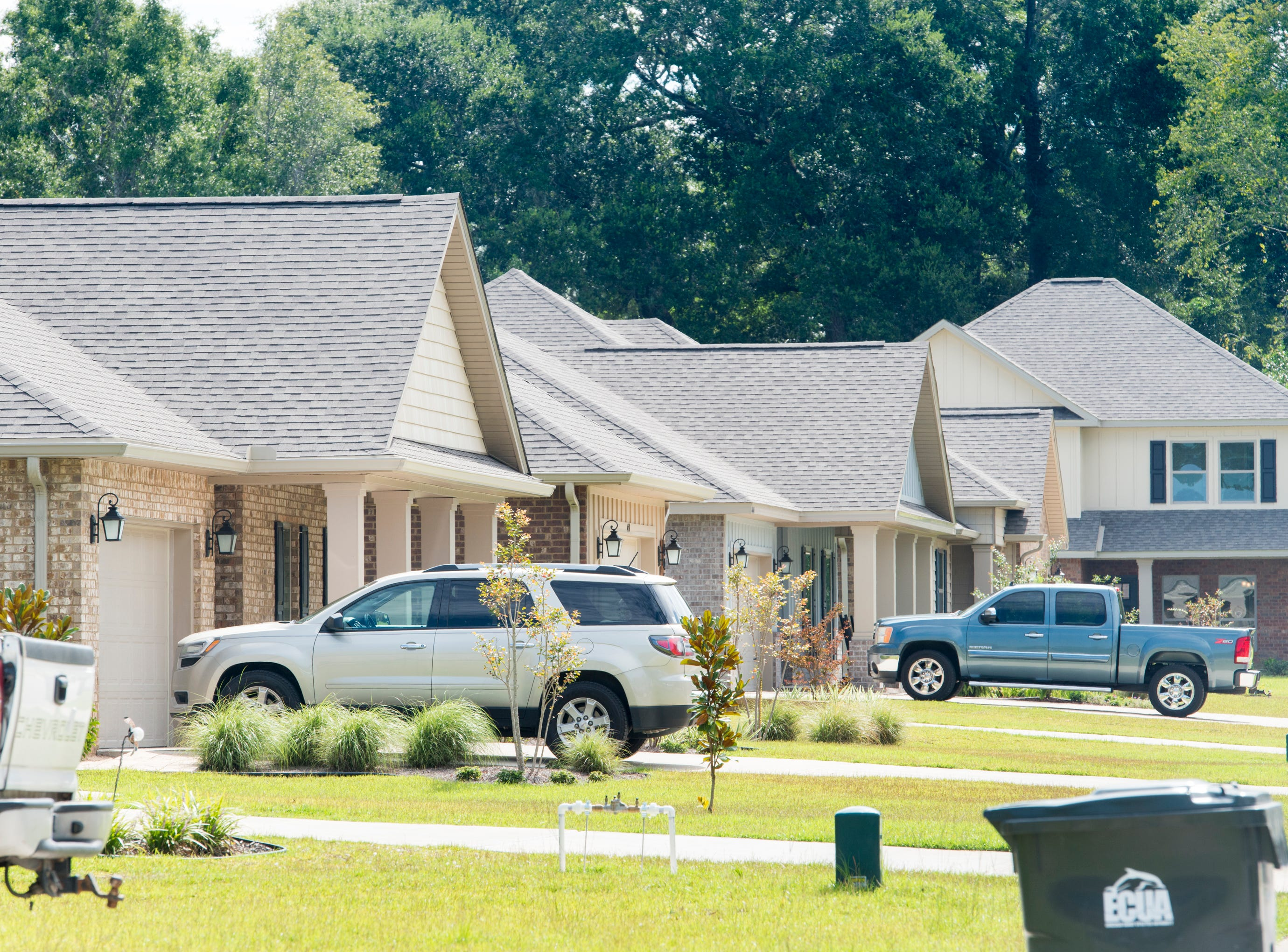 The new subdivision of Heritage Estates in Pace's District 1 on Tuesday, August 7, 2018.