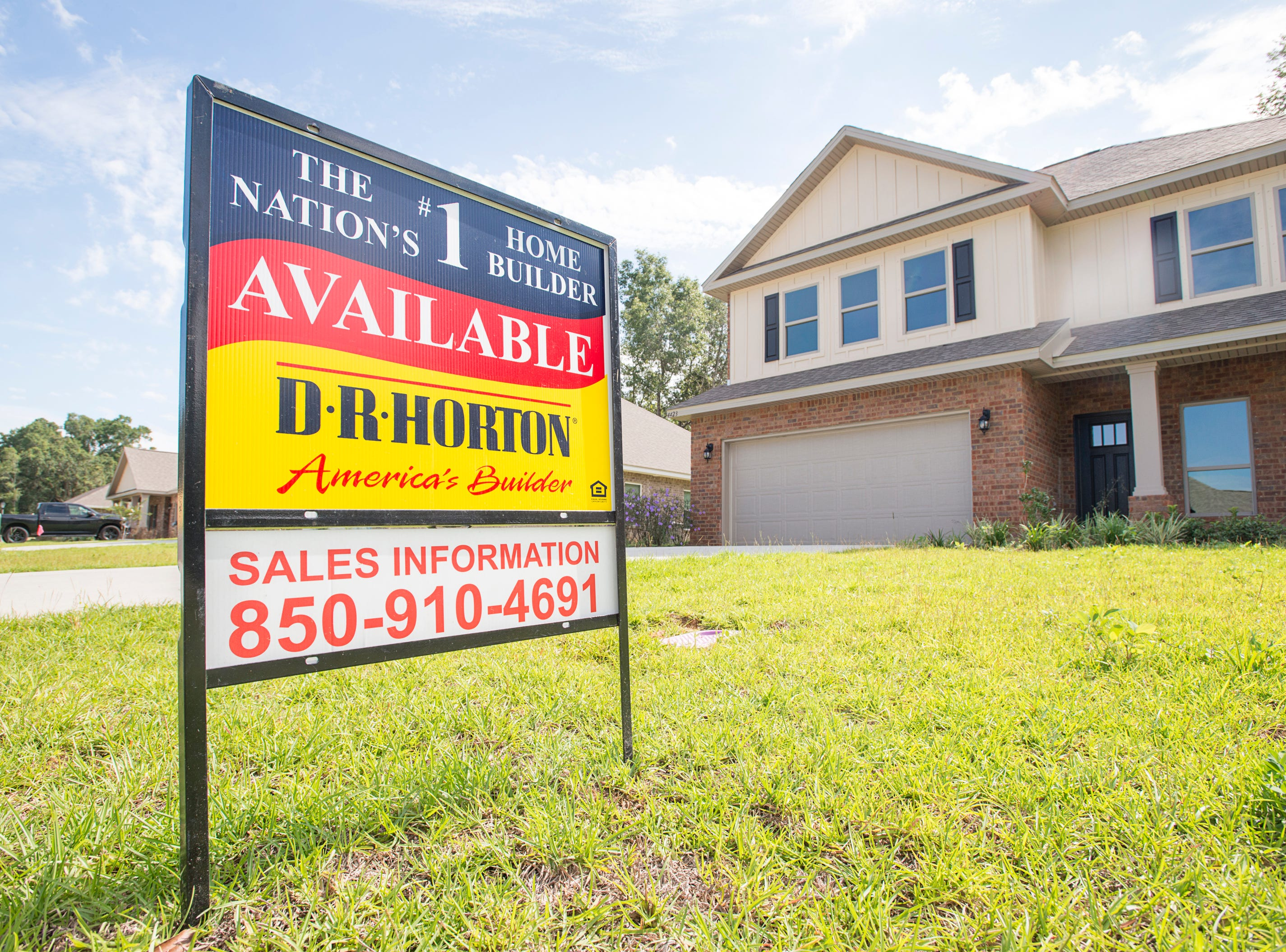 Houses for sale in the new subdivision of Heritage Estates in Pace's District 1 on Tuesday, August 7, 2018.