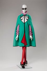 Ensemble by Alessandro Michele for Gucci, fall 2016. Wool, polyester, acetate, plastic, crystals, leather and metal. Collection of Phoenix Art Museum, purchased with funds provided by Arizona Costume Institute.