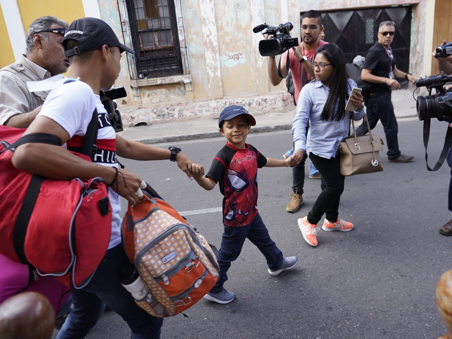 Leo Jeancarlo DeLeon on his way to be reunited with his mother in Guatemala on Aug. 7, 2018.