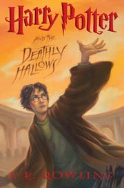 """AP Glendale Public Library - Foothills Branch will celebrate Harry Potter?s 20th Anniversary beginning Monday. The cover of the U.S. edition of """"Harry Potter and the Deathly Hallows, """"J.K. Rowling's seventh and final Harry Potter book due in stores just after midnight on July 21, 2007. (AP Photo/Scholastic)"""