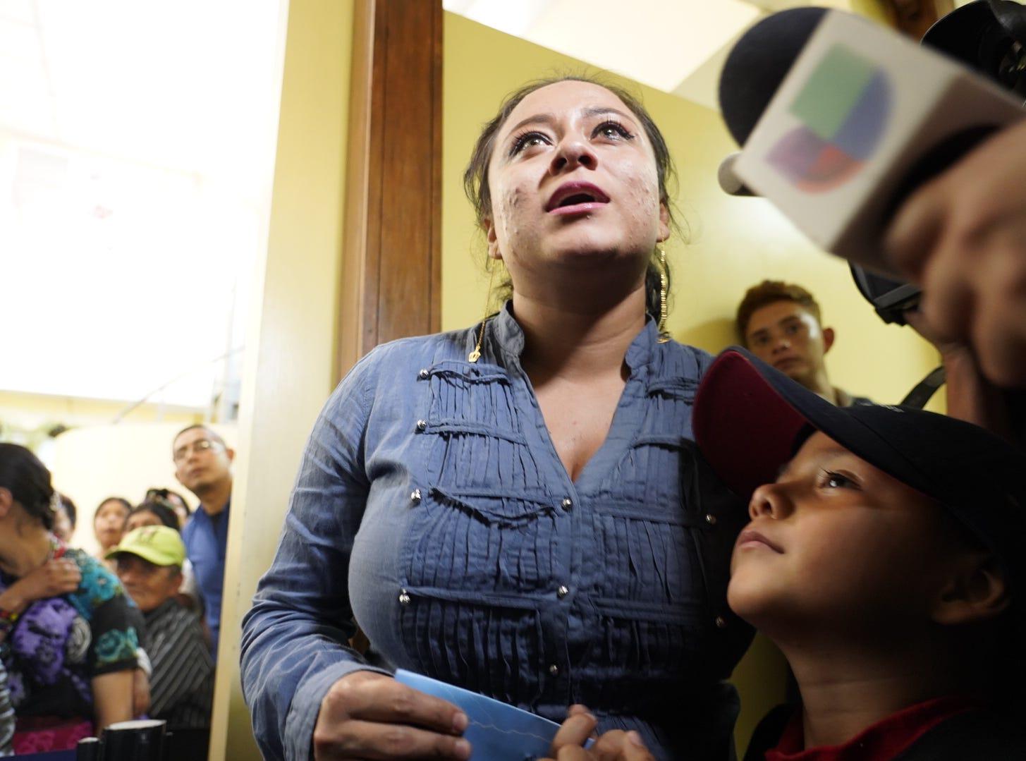 Leo Jeancarlo DeLeon is reunited with his mother, Lourdes Marianela DeLeon, in Guatemala on Aug. 7, 2018.