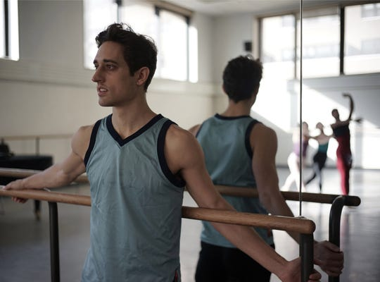 "Justin Peck in a scene from the documentary ""Ballet 422."""