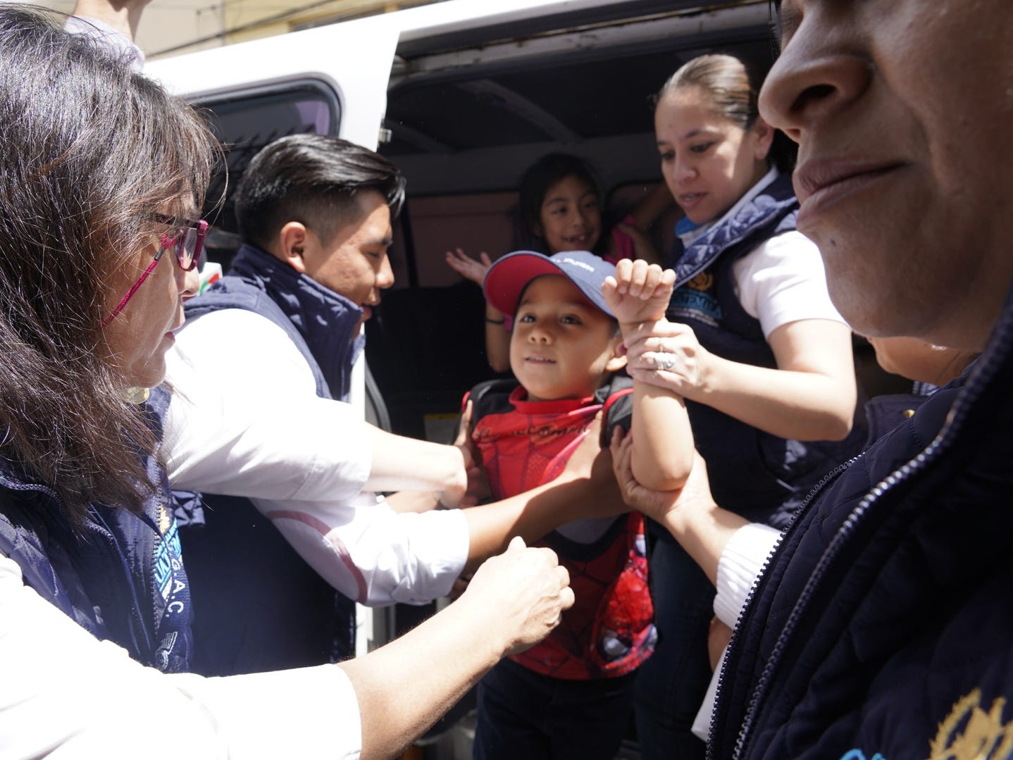 Leo Jeancarlo DeLeon, 6, arrives at the shelter in Guatemala to be reunite with his mother, Lourdes Marianela De Leon, who was deported to Guatemala without him. They were separated when he was taken from her by CBP officials two days after they entered the US illegally near San Luis, Arizona in May.