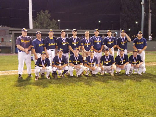 The Post 880 Richland Legion baseball team was the2018  Playoff Champion of the Lebanon County Legion League. The team's final Record of 15-11 was Post 880's best record since winning the championship in 2007.  Team members are, front row, from left, Caleb Waltermyer, Jude Anthony, Nate Trovinger, Clay Hain, Jon LaBarbera, Hunter Bojanic, Pat Gibble.  Back row, Coach Jeff Zimmerman, Coach Mark Bressler, Coach Lyle Krall, Travis, Weaver, Deklan Bressler, Joe Ginder, Cade Rambler, Joe Carpenter, Matt Bentz and Manager Travis Thome. Missing from photo-Reilly Peiffer
