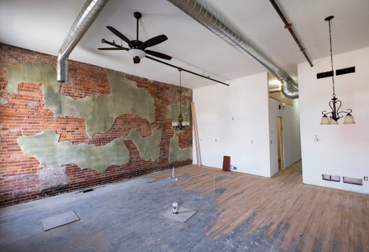 The interior of a loft being renovated inside the Ballentine building in Port Huron.