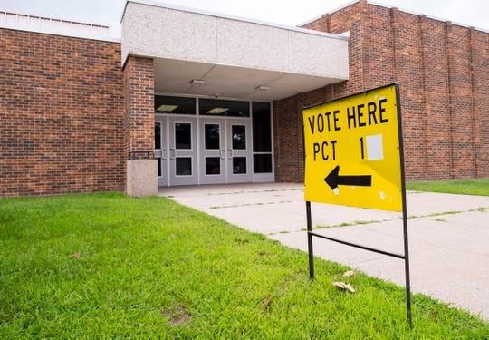Polls opened at 7 a.m. and  will remain open until 8 p.m.