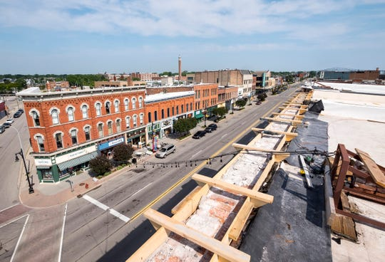 The view of downtown Port Huron from the roof of the Ballentine building. Developer Larry Jones said the roof of the building will be turned into a rooftop patio for residents.