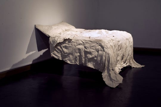 """Leah Hamel's """"Memory is a Ghost,"""" is included in Barrett Art Center's """"Pushing Paper,"""" opening Aug. 11."""