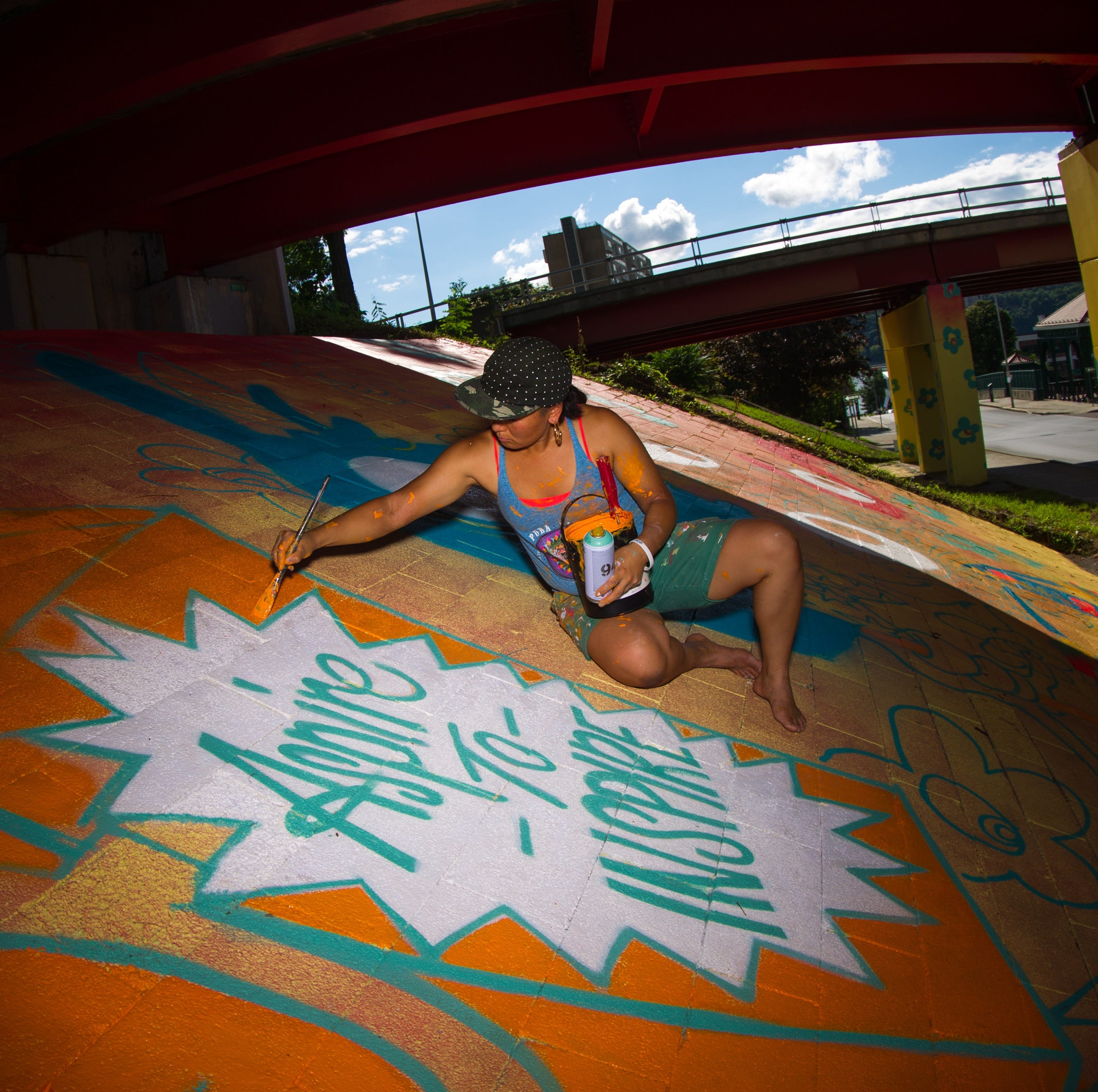 Take a look behind the making of Boogie's Poughkeepsie Gateway Project mural