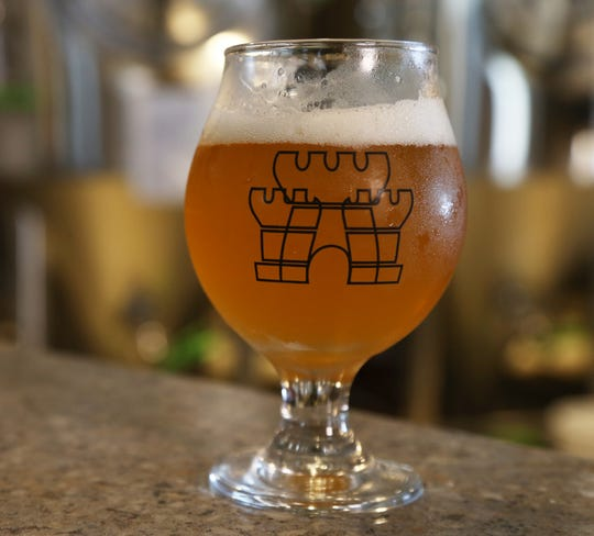 A Kings Court Brewing glass at the brewery in the City of Poughkeepsie on August 7, 2018.