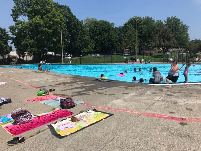 People escape the heat on Monday, Aug. 6, 2018 at Spratt Park Pool in the City of Poughkeepsie. The National Weather Service in Albany issued heat advisories on Monday and Tuesday.