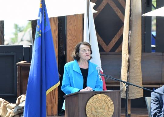 Sen. Dianne Feinstein (D-CA) at the 2018 Tahoe Summit at Sand Harbor State Park near Incline Village.