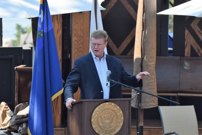 Nevada Congressman Mark Amodei at the 2018 Tahoe Summit at Sand Harbor State Park near Incline Village.
