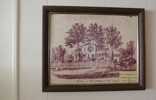When reading the story of the chicken club in the Democrat and Chronicle, Lord felt moved to help the students out. This photo is of an ink drawing of the farm that Lord grew up on where he helped raise chickens, cows and had all other experiences.