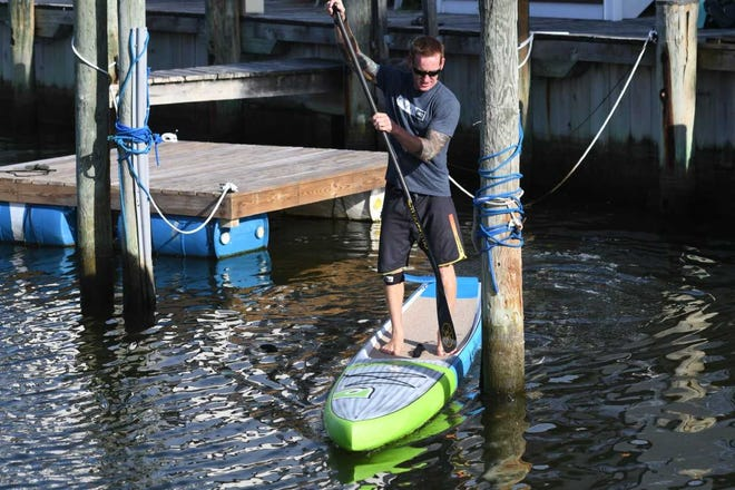 Wayne Best, 44, has been paddleboarding for nearly 10 years and will compete in the SEA Paddle NYC competition on Saturday.