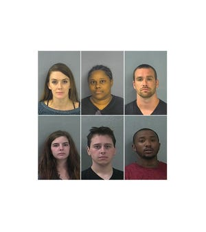 From top left, clockwise: Brittany Jones, Kimberly Robinson, Victor Walton, Demarko Hinkle, Peter Kuhn, and Laura Brown,
