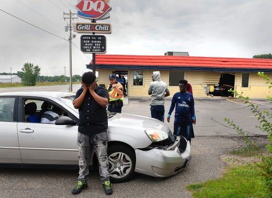A second car was hit when a driver lost control and drove into the Dairy Queen restaurant Tuesday, Aug. 7, along Minnesota Highway 23 in Cold Spring.