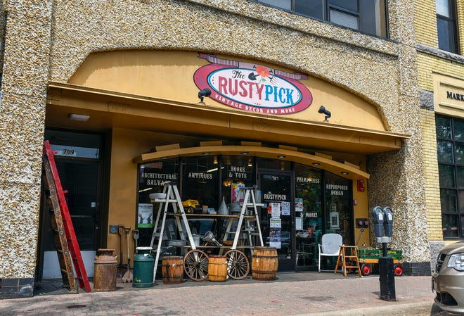 The St. Cloud location of the Rusty Pick, specializing in antiques and repurposedone-of-a-kind items, is shown Tuesday, Aug. 7, at 707 West St Germain St., St. Cloud.