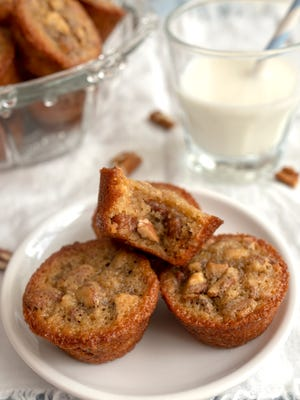 Southern Pecan Pie Mini-Muffins are not too sweet.