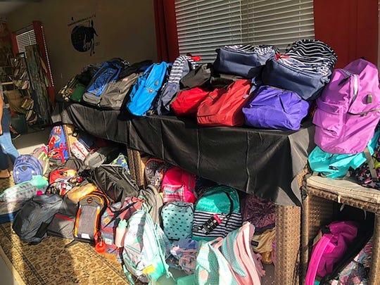 Over 300 backpacks filled with school supplies were donated to Elev8Hope by local businesses and students.