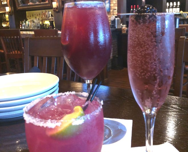 Carrabba's prickly pear margarita, red sangria and berry bellini were served during a recent happy hour.