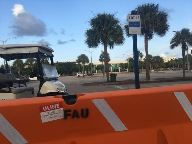 The road to the student services building at Florida Atlantic University was completely blocked on Tuesday, August 7, 2018, after the school received a threat that canceled one of three graduation ceremonies set to take place that day.