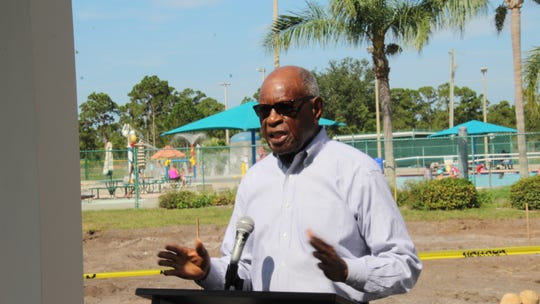 Dr. A. Ron Hudson, one of the Gifford Youth Achievement Center's original founders, speaks before the groundbreaking on June 28.