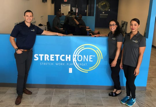 Tony Zaccario, Lisa Walsh and Stretch Zone El Paso owner Zaimis Brooks are excited to open the franchise in El Paso.