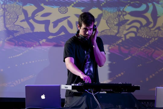 The Cellar Door featured electronic dance music. Pictured here is DJ Samuel Grifford.