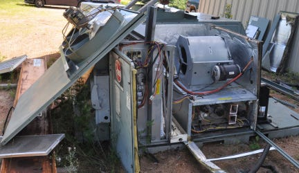 Marathon County Crime Stoppers is trying to find out who damaged two commercial air conditioning units in the town of Texas.