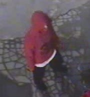 Second suspect in an attempted armed robbery at Clark gas station still image from surveillance video.
