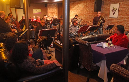 Greg Wusthoff's Westchester Swing Band at 12 Grapes Music and Wine Bar in Peekskill, where live music was offered Thursdays through Sundays.