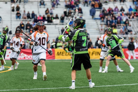 Mike Bocklet was traded to the New York Lizards in September after playing with his brothers in Denver. He's currently sidelined with an ankle injury.