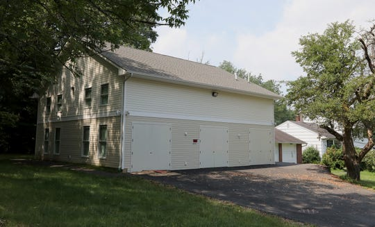 A garage building that CUPON of Chestnut Ridge says is being used as a shul on Spring Hill Terrace in Chestnut Ridge Aug. 7, 2018.