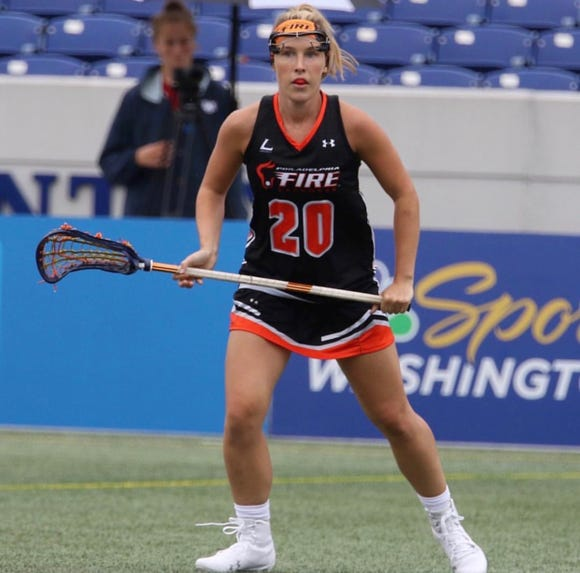 Casey Bocklet made her professional debut in July when the Women's Professional Lacrosse League debuted.