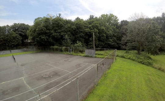 Tennis courts are now at the site of Orangetown's planned recreation center in Orangeburg Aug. 7, 2018. New courts would be built as part of the recreation center.