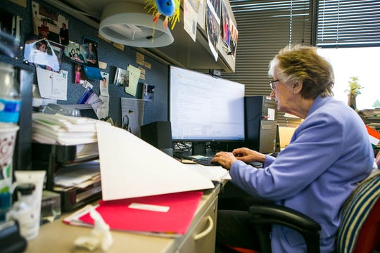 Dr. Rita Colwell works in her office at the University of Maryland College Park Biomolecular Sciences Building. Dr. Colwell is the nation's leading Vibrio experts and has been studying the deadly bacteria since the 1970s.