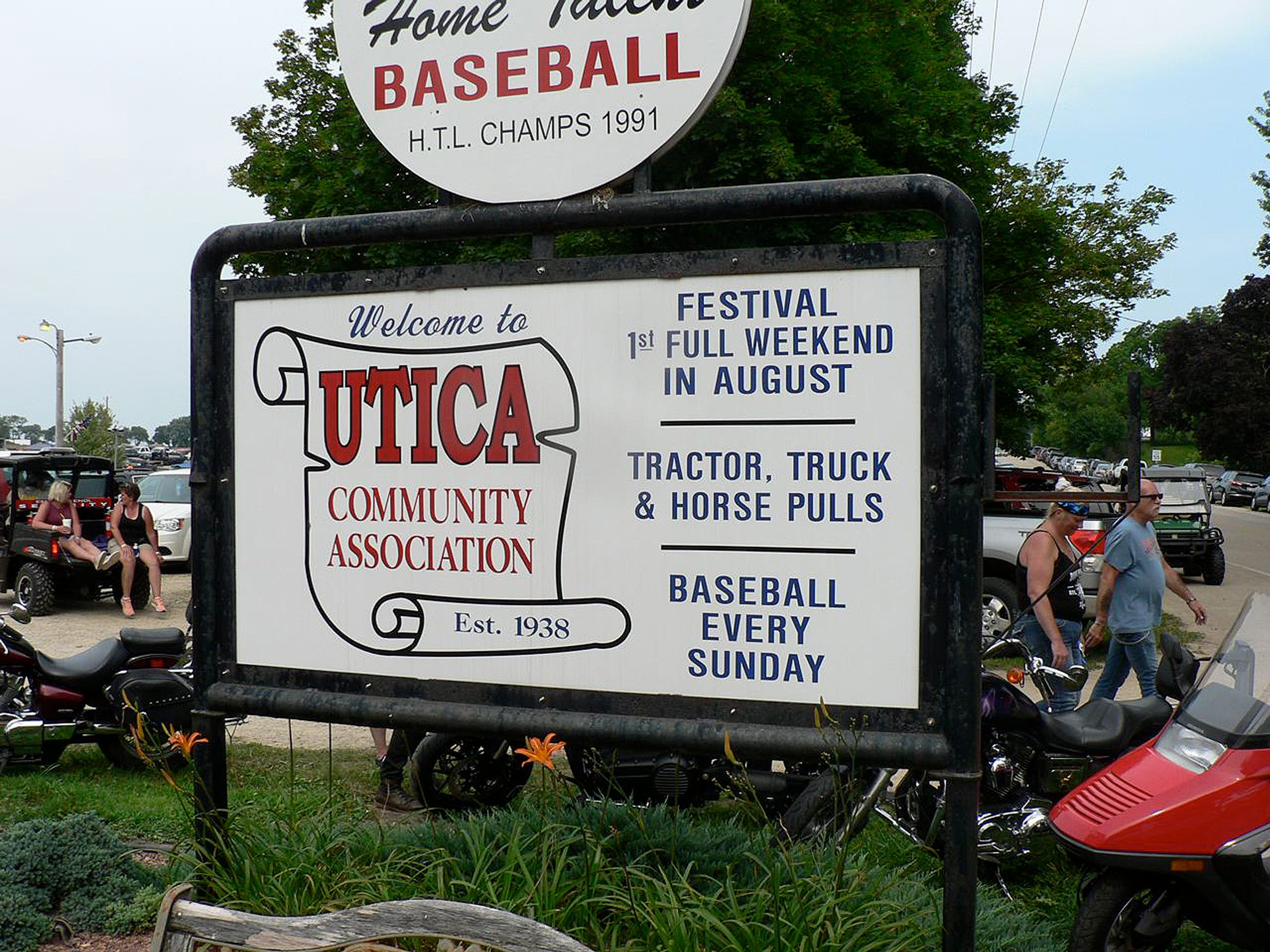 Utica is home to just a few people but becomes the destination for thousands once a year.