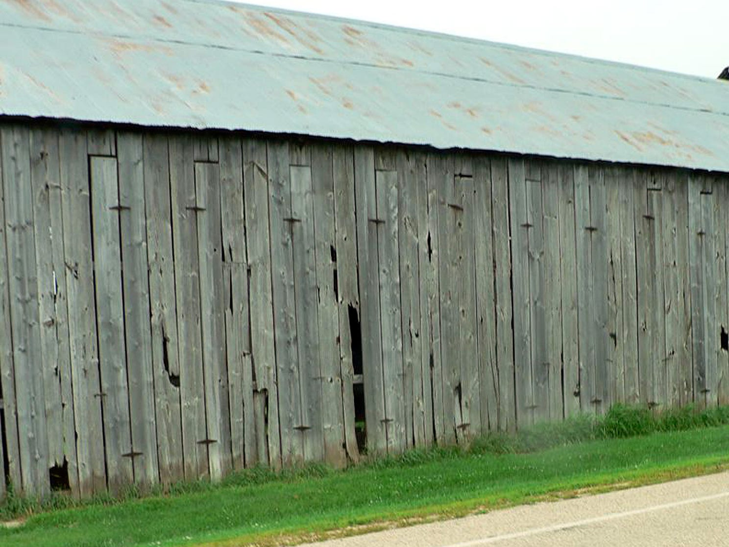 An old tobacco shed still standing strong and still used yearly. It's probably well over 75 years old.