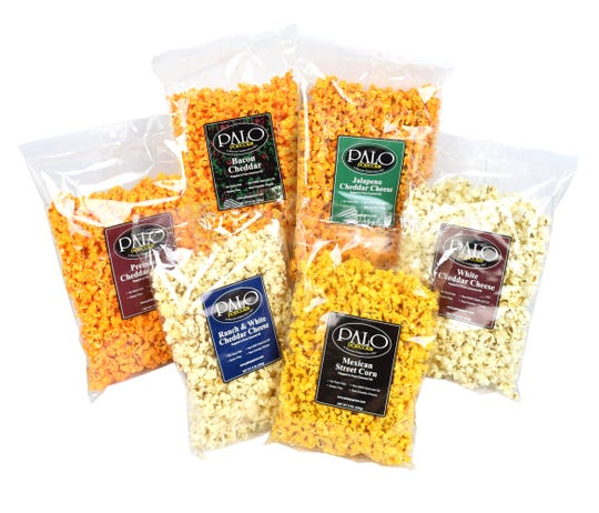 Palo Popcorn comes in a variety of inventive flavors, from Ranch & White Cheddar Cheese to Mexican Street Corn.
