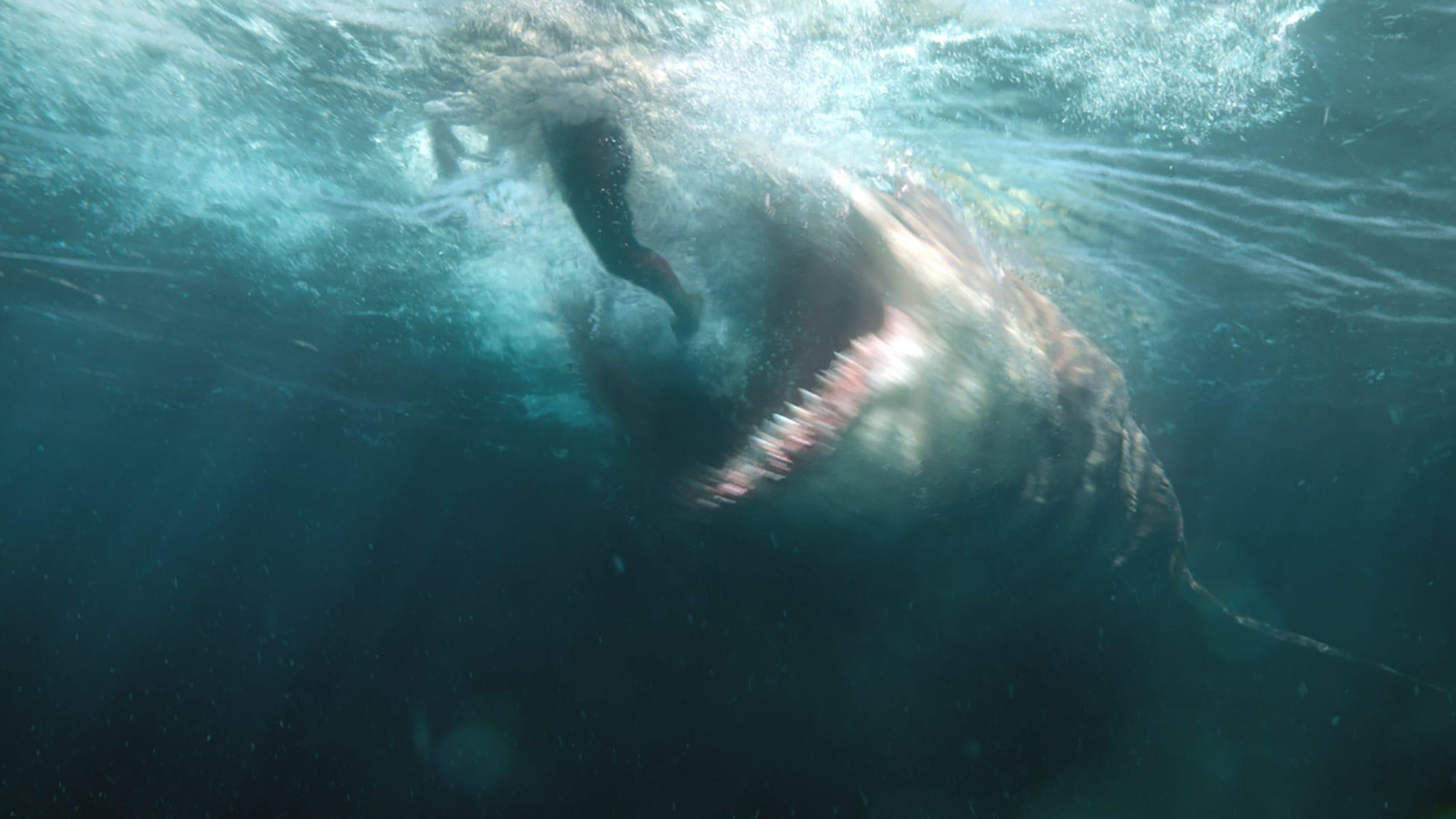 "A prehistoric shark, aka the assumed-extinct megalodon, is on the loose in ""The Meg."""